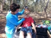 Facepainting for the boys